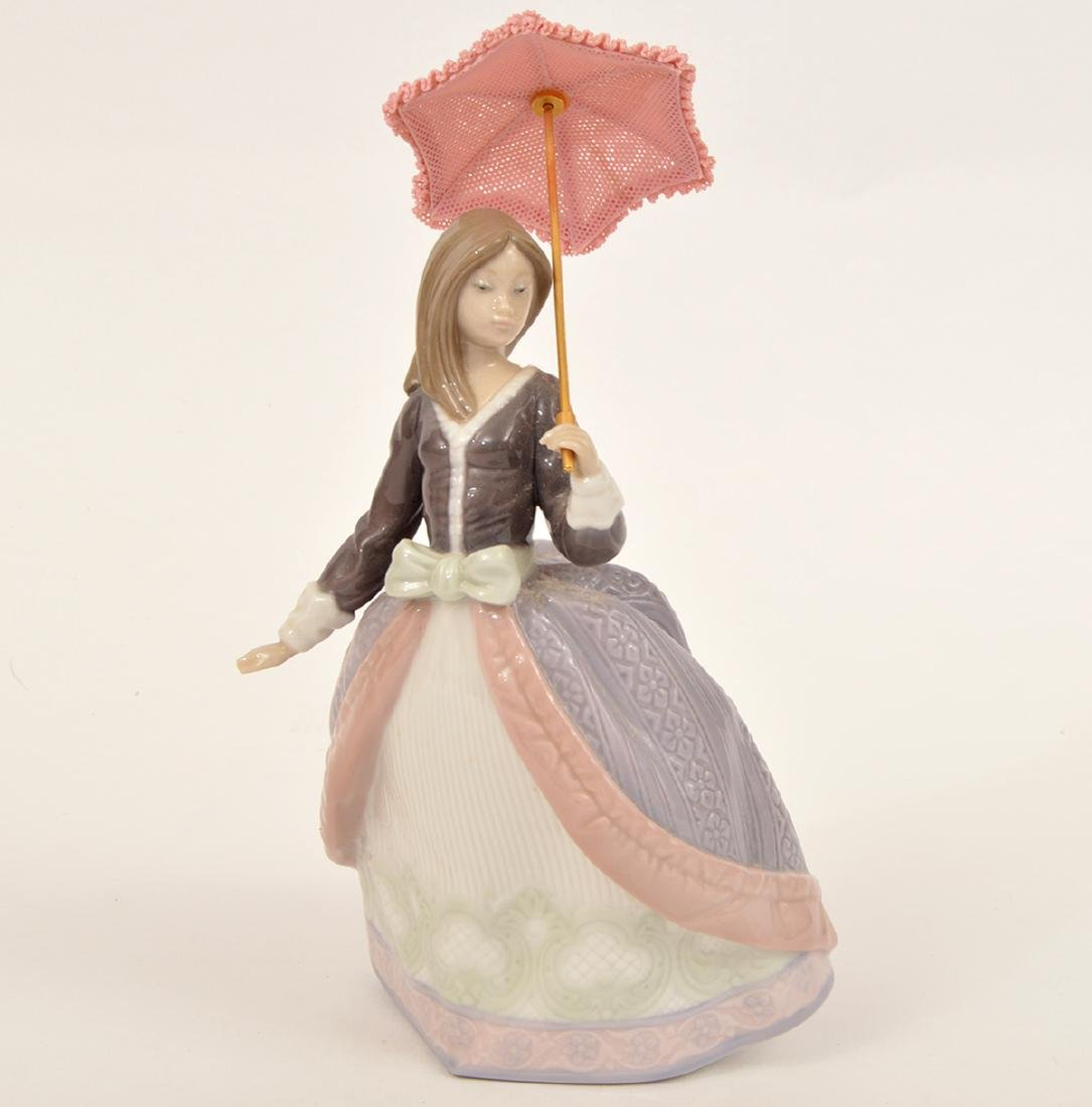 Lladro Angela with Parasol Porcelain Figurine 5211