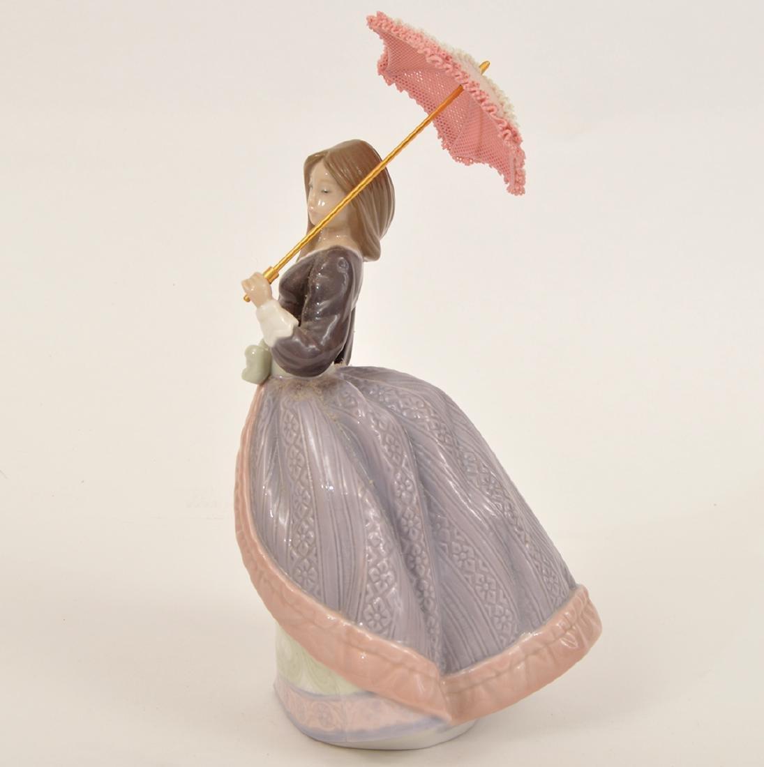 Lladro Angela with Parasol Porcelain Figurine 5211 - 2