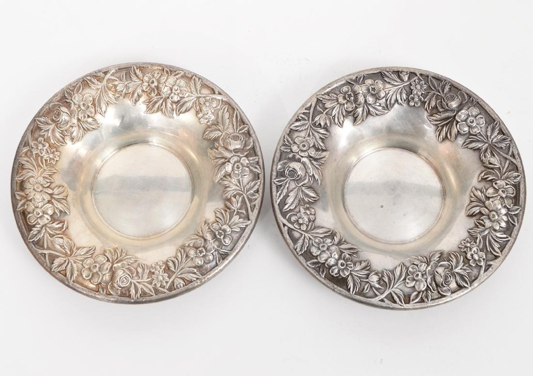2 Sterling Silver S. Kirk & Son Repousse Bowls