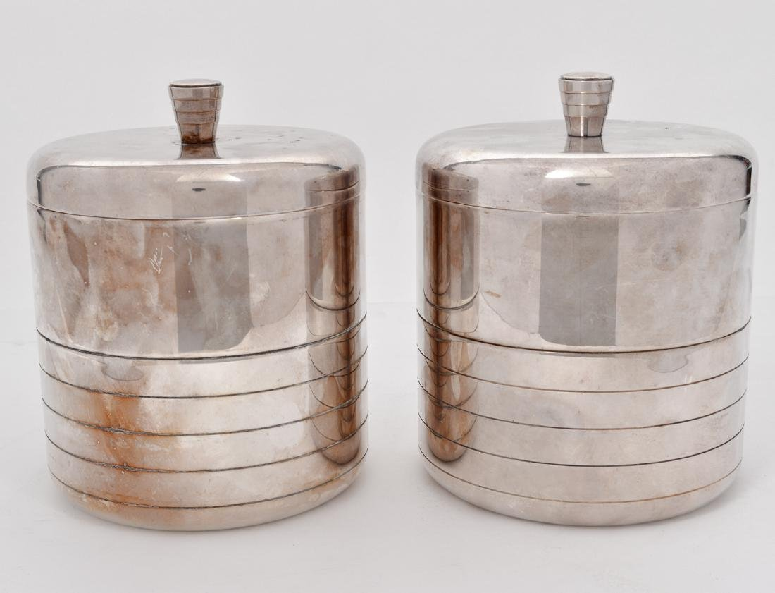 2 Christofle Mid Century Silver Plate Ice Buckets