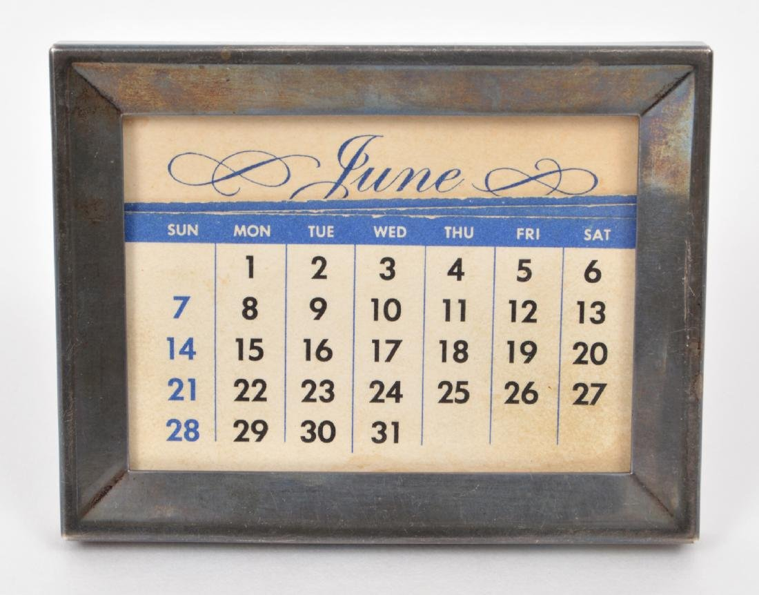 Tiffany & Co Sterling Silver Frame Calendar Cards