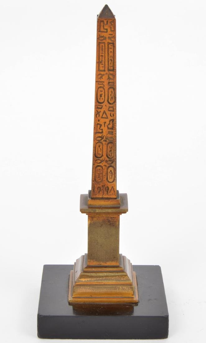 19th c Grand Tour Bronze Thermometer Marble Base