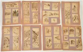 101 French Ink Watercolor Pencil Drawings 18th C