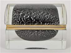 Murano Crystal Glass Italian Jewelry Casket Box