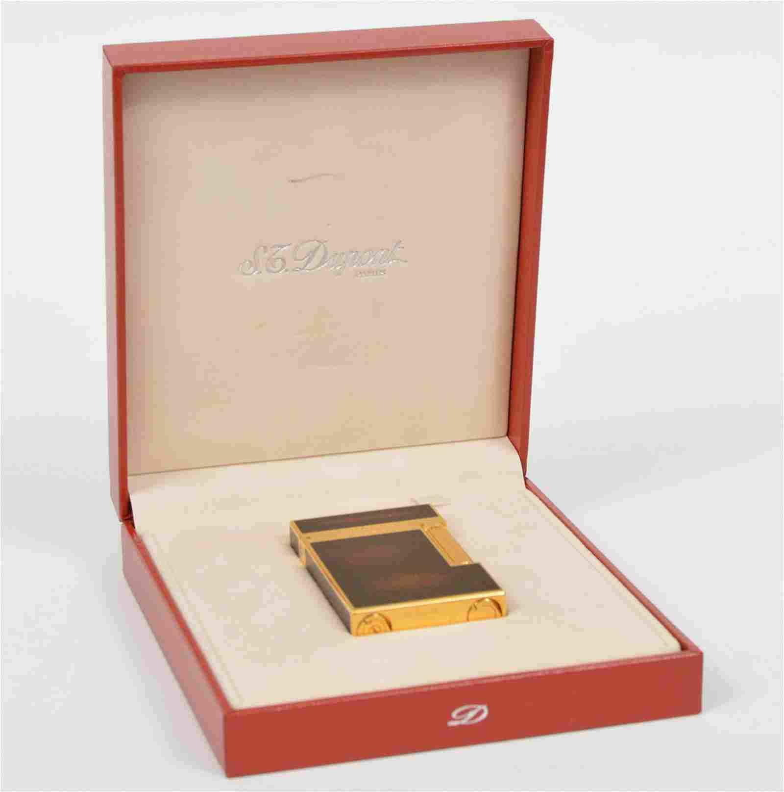 Dupont Paris Gold Filled Enamel Lighter