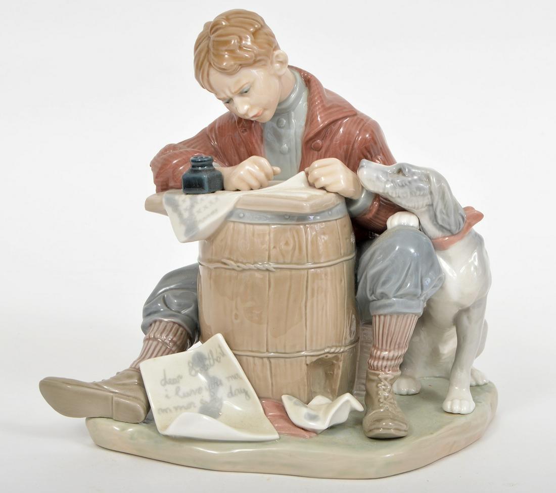 Lladro 1406 Figurine 'Love Letter' 1982