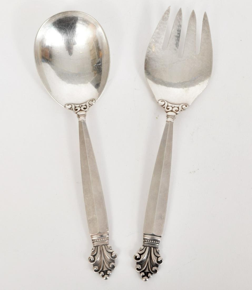Georg Jensen Sterling Silver Salad Fork & Spoon