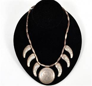 Native American Sterling Necklace
