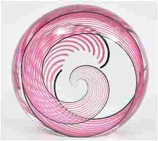 Seguso for Ogetti Crystal Swirl Art Glass