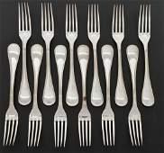 12 Christofle Perles SP Dinner Forks