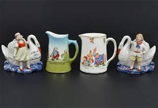 Vintage Porcelain Pitchers Vases