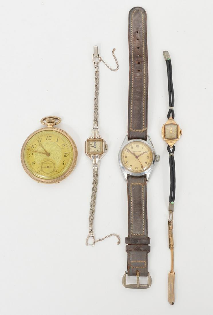 4 Watches for Parts Bulova Illinois Leonidas