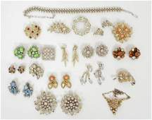 Lot Rhinestone Jewelry Weiss Eisenberg Trifari