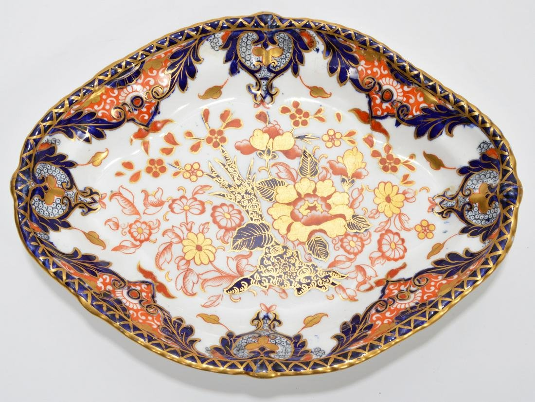 Antique Royal Crown Derby Oval Platter