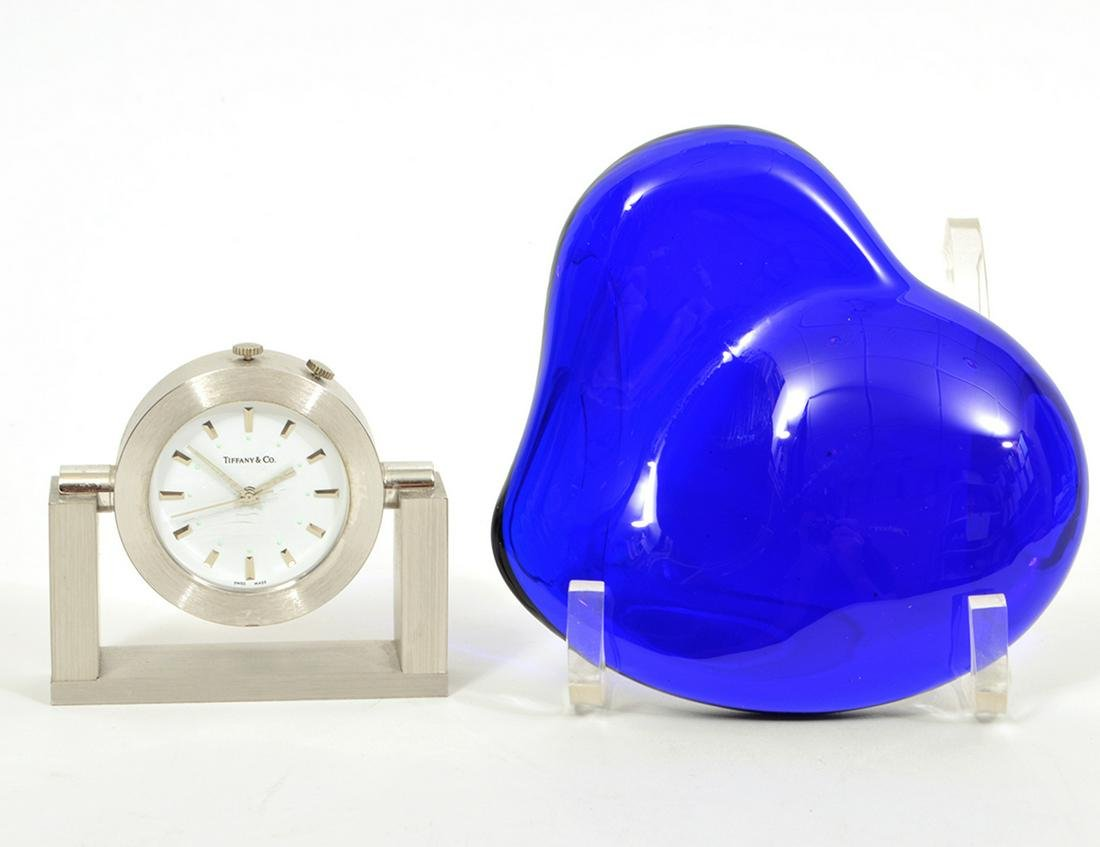 Tiffany & Co. Clock & Peretti Glass Heart