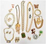 19 Pcs. Signed Vintage Designer Jewelry