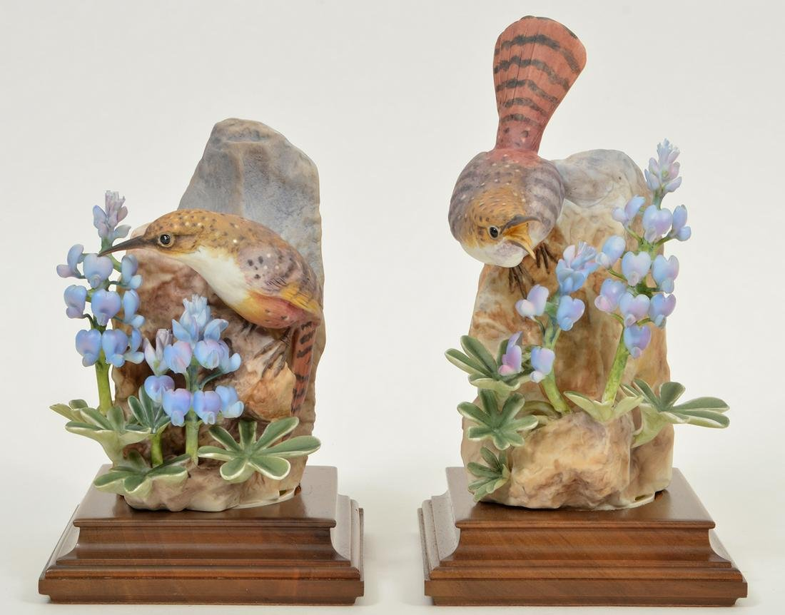2 Royal Worcester Canyon Wren Figures