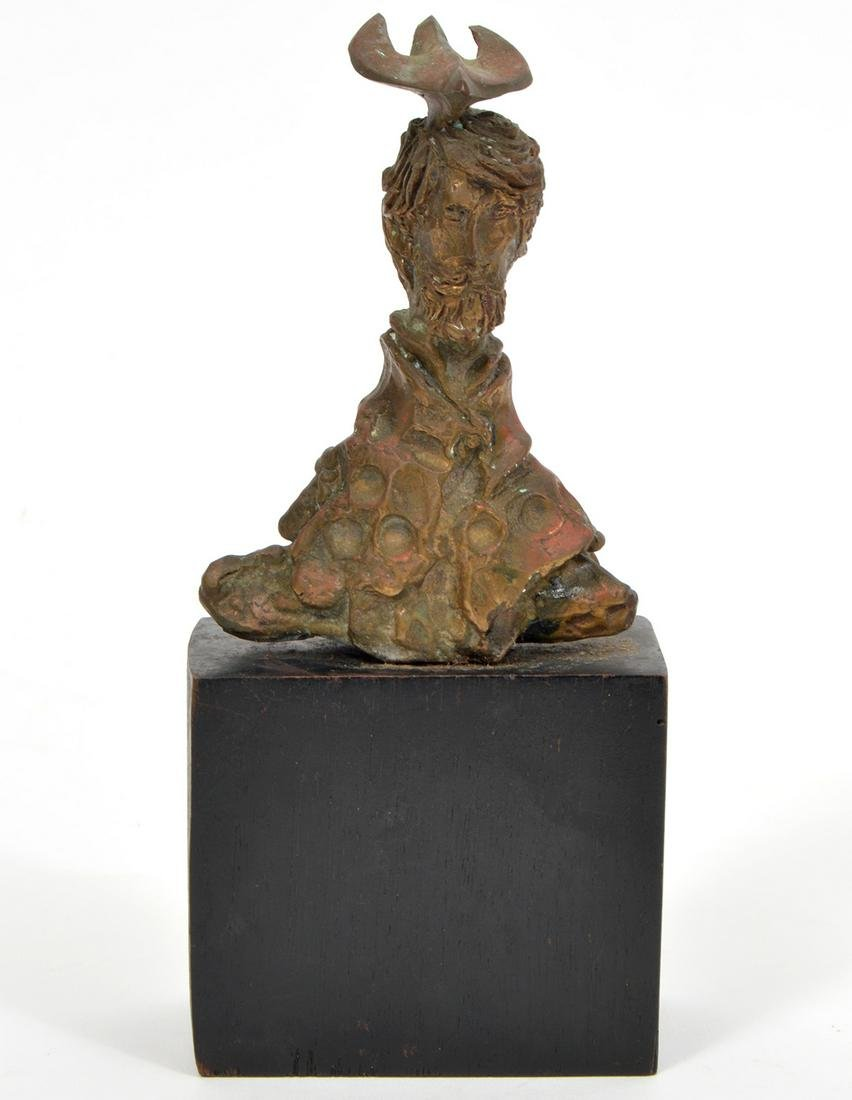 A. Dickes Bronze Whimsical Sculpture