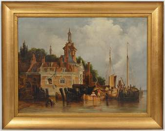 Important 18th Ct. Dutch Maritime Oil Painting