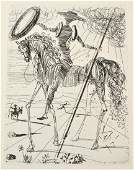 Salvador Dali Etching Don Quixote