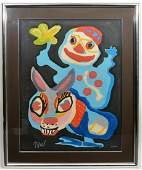 Karol Appel Colorful Signed Lithograph