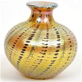 Lundberg Studios Signed Art Glass Vase