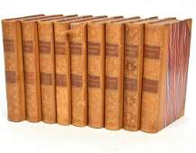 Hawthorne's Works' 9 Leather Bound Volumes