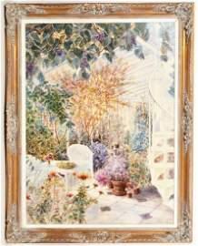 Susan Sahall 'Stairway' Original Oil Painting