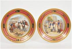 Pr. French Napoleon Plates w/ Historical Scenes