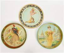 Three Early 20th Beer Ad Tin Serving Trays