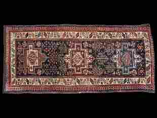 Antique Geometric Oriental Runner Rug/Carpet