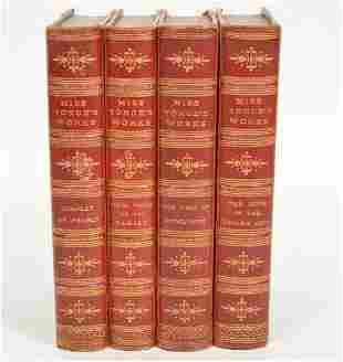 4 Leatherbound Books 'Miss Yonge's Works' 1879