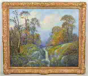 Large Signed Landscape Oil Painting