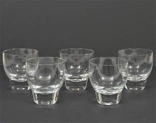 Set of 5 Heavy-Base Clear Cocktail Glasses