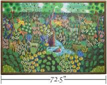 Fritz Damas Large Haitian Jungle Picture