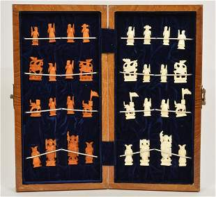 Chinese Hand-Carved Chess Set