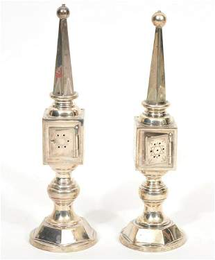 Two Judaica 835 Silver Besamim Spice Boxes