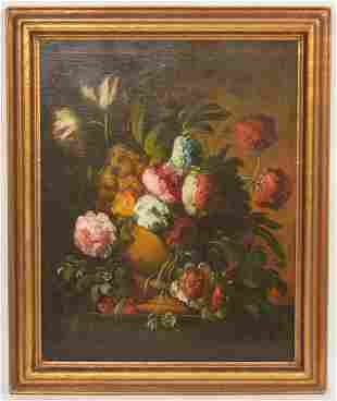 19th Ct. Floral Still Life Oil Painting