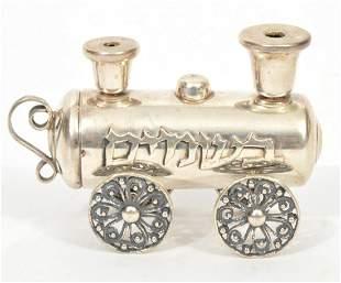 Judaica Sterling Silver Train Besamim Spice Box