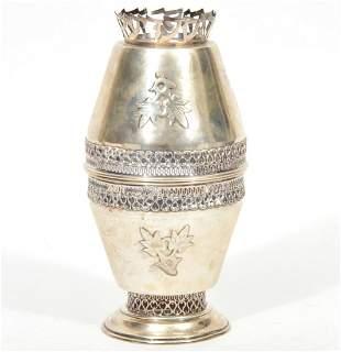 Judaica Sterling Silver Etrog Box