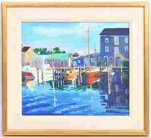 Julia Kelly Oil Painting 'Dockside'