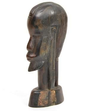 Hand-Carved African Kenyan Maasai Tribal Wood Bust