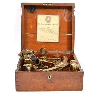 T.L. Ainsley, South Shields 'Bell' Pattern Sextant