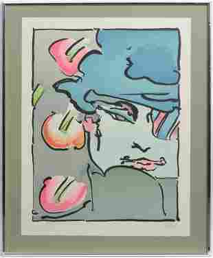Peter Max 'Zero Vertical' Litho on Paper S/N