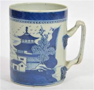 Chinese Blue & White Porcelain Mug