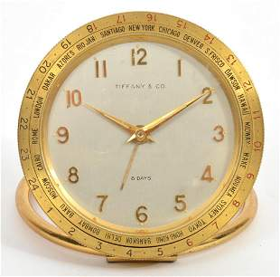 Tiffany & Co World Travel Wind-Up Desk Clock