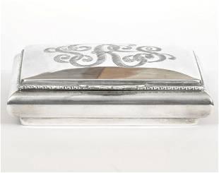 Camusso Sterling Cigarette Case Hinged lid