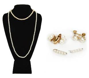 Akoya Pearl Jewelry Necklaces Earrings Pins