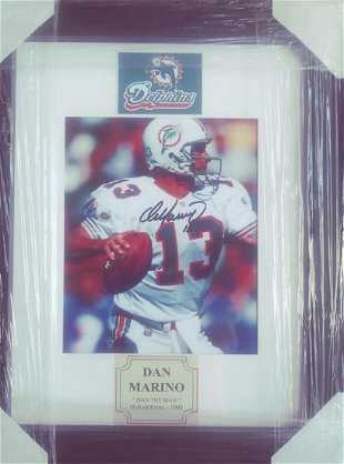 1489bd28314 Signed and Framed Dan Marino Photo