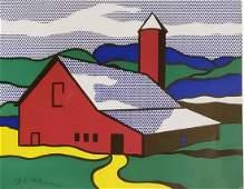 Roy Lichtenstein, Red Barn 1973 Hand signed Lithograph